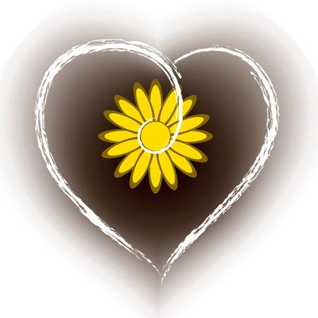 floral heart: Floral Heart Shape Vector Background.