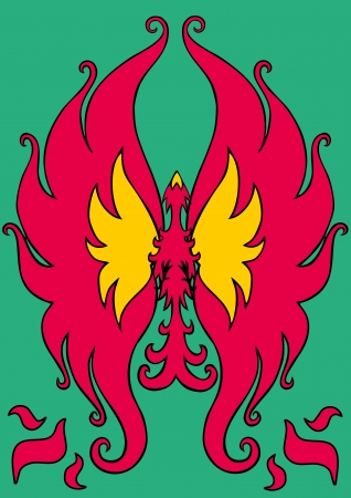 fabled: Phoenix Illustration