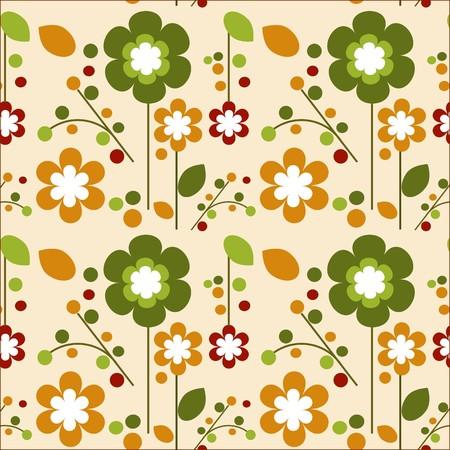 seamless springtime flowers bloom template design ,  illustration Vector