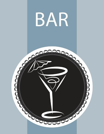 restaurant and bar menu design on grey background Vector