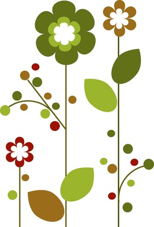 Springtime colorful flowers bloom Stock Vector - 7527190