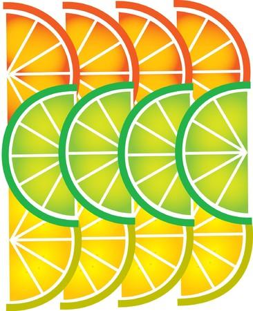 lemon lime: affettato di pompelmo, limone, calce e arancione, modello di progettazione