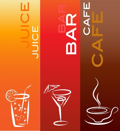 beverage icons, design template  Illustration