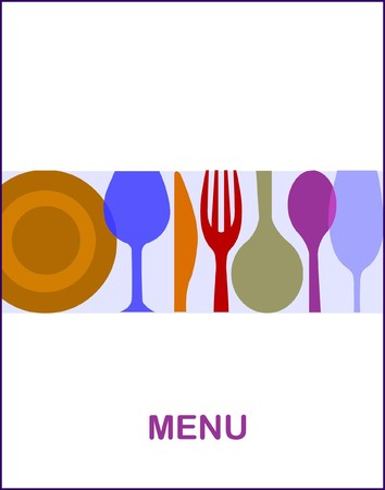 restaurant menu Illustration