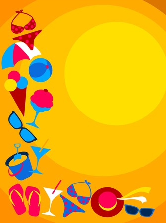 Summer and travel icon set Stock Vector - 7527307