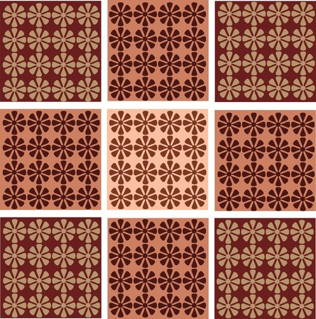 ornamentation: Seamless wallpaper with decorative flower ornamentation