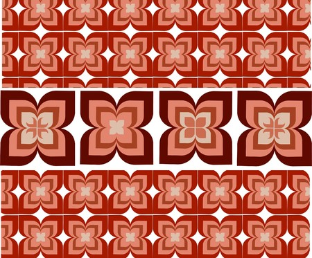 Seamless wallpaper with decorative flower ornamentation Vector