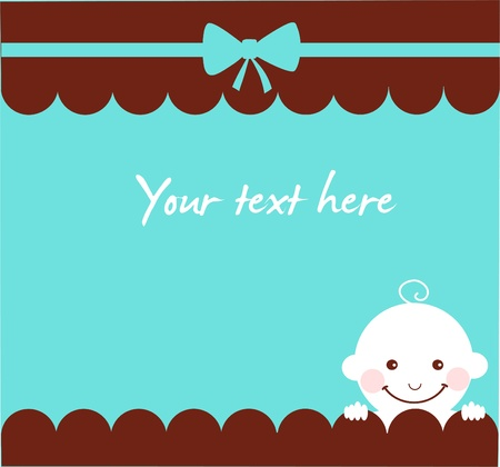 invitation for newborn celebration , vector illustration Vector