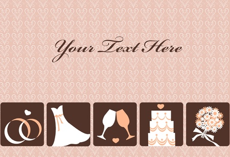 gentle wedding invitation card , vector illustration