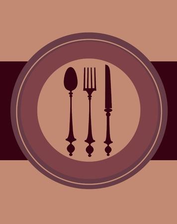 diseño de menú de restaurante, ilustración vectorial