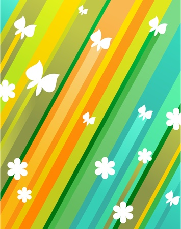 colorful butterfly pattern, vector illustration Vector