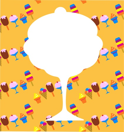 wafer: diverse icone di gelato su sfondo giallo