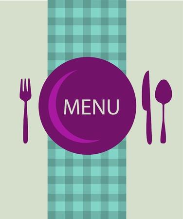 serving utensil: restaurant menu design with table utensil , vector illustration Illustration