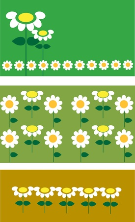 tree kind of flower templates on green backgrounds Vector