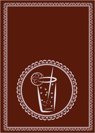 template of restaurant and juice bar menu design. Vector
