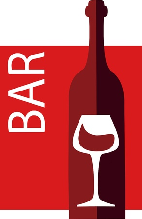 wine and glass vector design template, vector illustration Vector