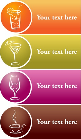 beverage icons . menu template Vector