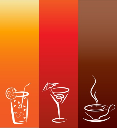 beverage icons; design template