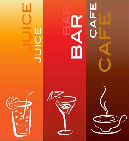 beverage icons; design template , vector illustration