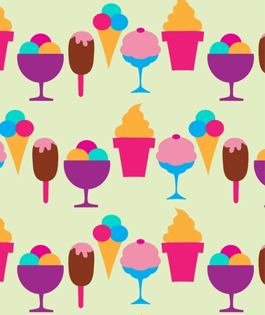 ice cream soft: colorful background of different ice-creams, vector illustration