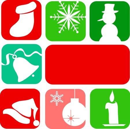 christmas elements. christmas card template design Vector