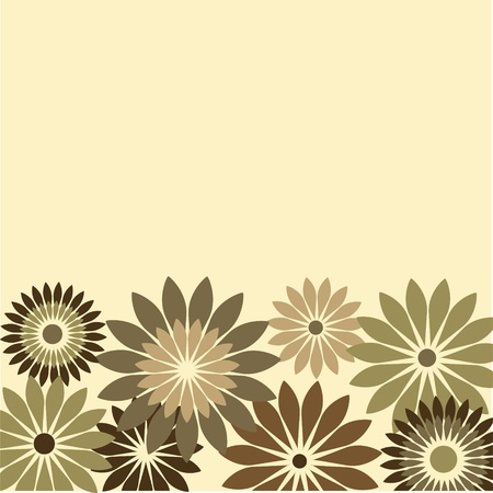 retro card of flowers, vector illustration Vector