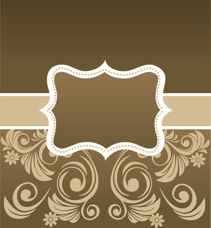 mirror frame: retro floral framewith a place for your text