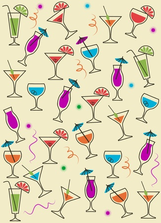 drink or cocktail collection isolated on a white background , vector illustration Vector