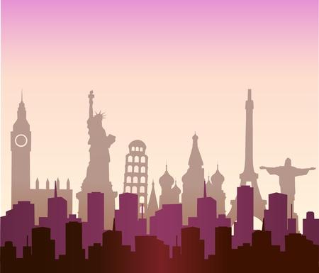 world travel: cities of the world Illustration