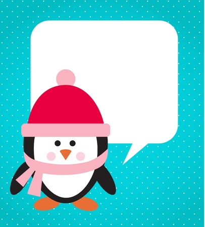 Penguin with hat and scarf Stock Vector - 10842347