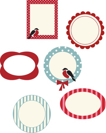 set of frames for  christmas cards Vector