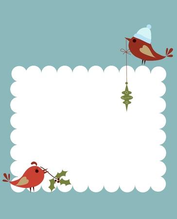 marcos decorados: plantilla de tarjeta de navidad