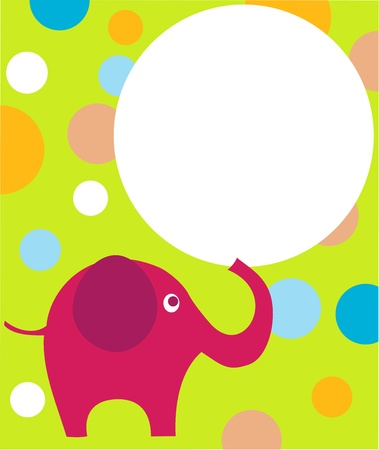 pink eilephant on colorful background Vector