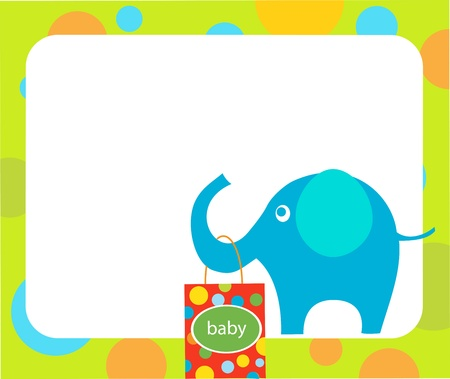 elephant holding shopping bags for baby Vector
