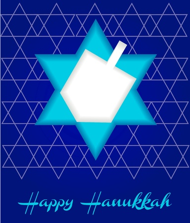 a happy hanukah card tempalte  Vector