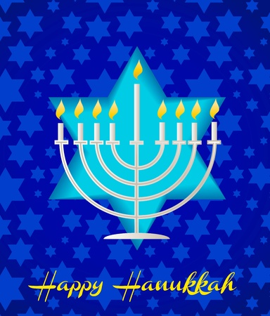hannukah: a happy hanukah card tempalte