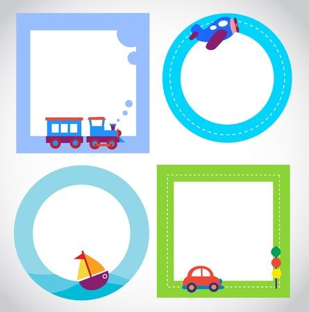 kaart sjablonen met speelgoed vervoer