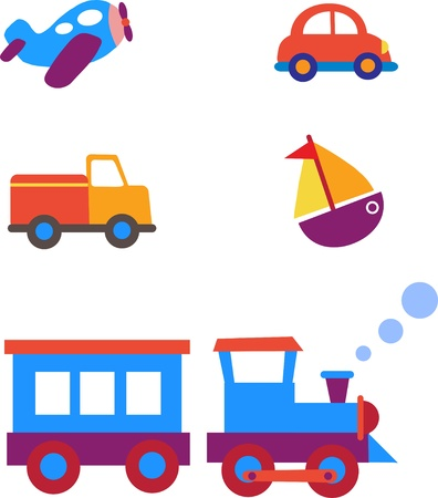 entrenar: juguetes de transporte conjunto