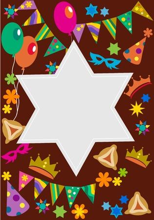 testaments: Purim background with davis star Illustration