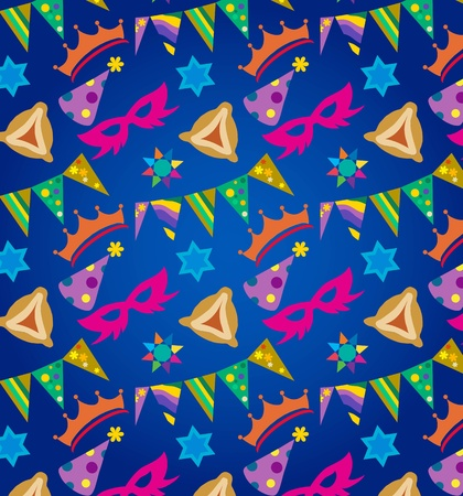 Purim background , jewish holiday Vector