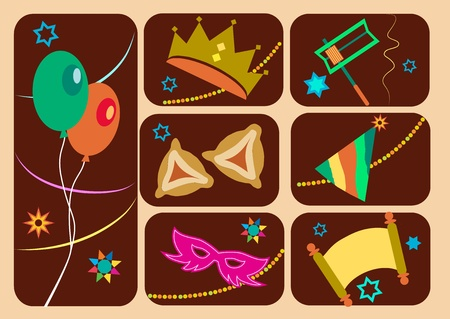 purim carnival: Happy purim, jewish holiday
