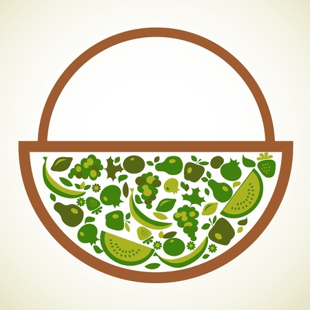 nutrition icon: organic food label in green colors