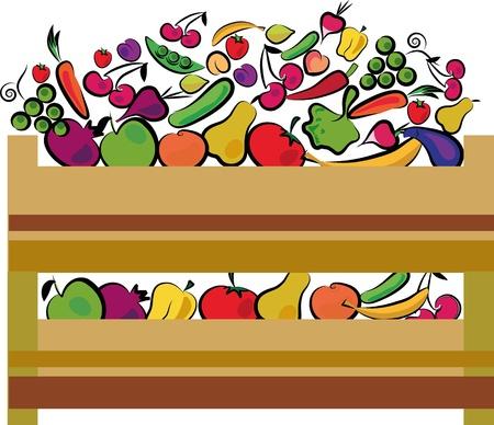 organiczny etykieta jedzenie w zielonych kolorach Ilustracje wektorowe