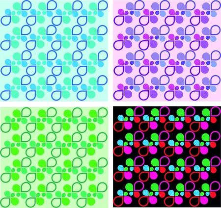 four colorful shape templates Vector