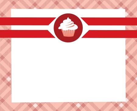 vanilla cupcake: menu desert Illustration