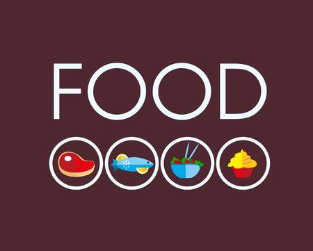 carne de pollo: iconos de alimentos con carne y comida vegetariana