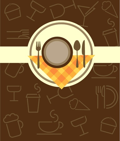 cloche: menu template for restaurant or coffee bar Illustration