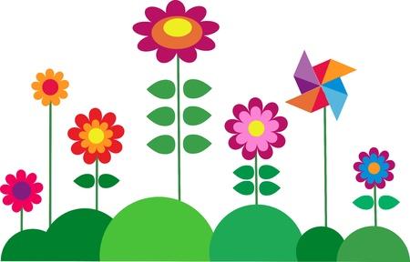 Springtime colorful flower Stock Vector - 13445303