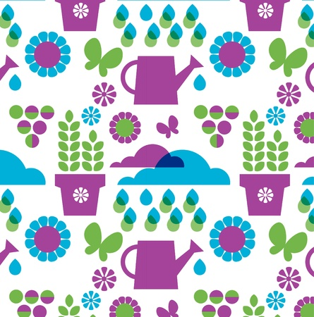 background of garden objects; organic set Vector