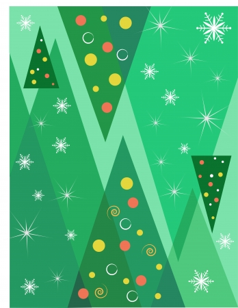 Christmas  background with trees Stock Vector - 15996009